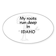 Idaho Roots Oval Decal