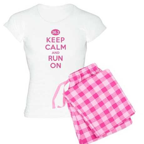 Keep Calm and Run On 26.2 Pink Women's Light Pajam