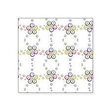 """Bingo Ball Star swatch Square Sticker 3"""" x 3"""""""