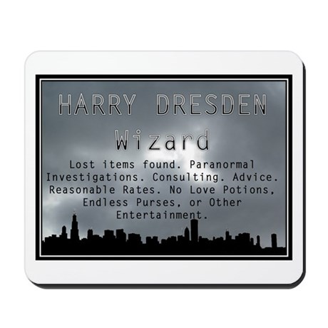 Harry Dresden Business Card Mousepad