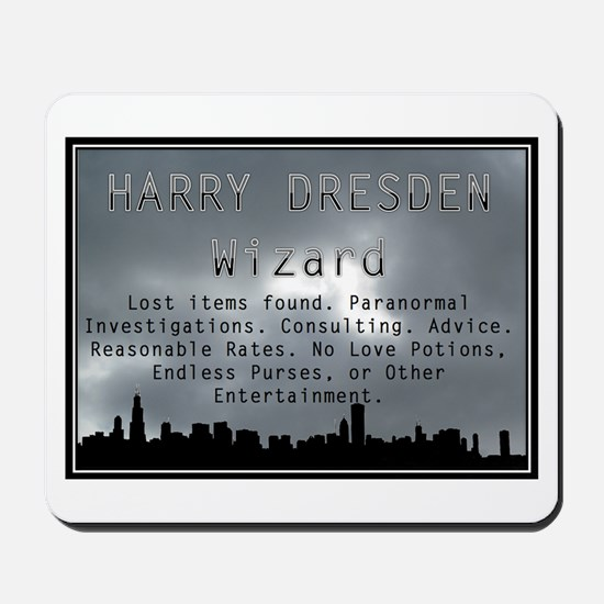 Harry Dresden Business Card Mousepad