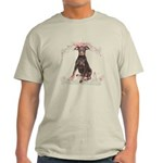 Doberman Flowers Light T-Shirt
