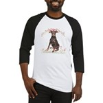 Doberman Flowers Baseball Jersey