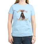 Doberman Flowers Women's Light T-Shirt