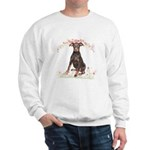 Doberman Flowers Sweatshirt