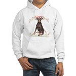 Doberman Flowers Hooded Sweatshirt