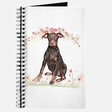 Doberman Flowers Journal