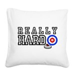 Really-Hard3.jpg Square Canvas Pillow