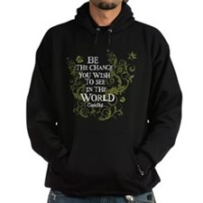 Be the Change - Green - Light Hoodie