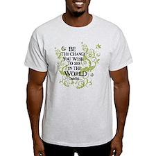 Be the Change - Green - Light T-Shirt