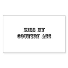 Kiss My Country Decal