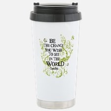 Be the Change - Green - Light Stainless Steel Trav