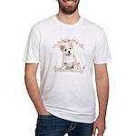 Corgi Flowers Fitted T-Shirt