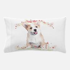 Corgi Flowers Pillow Case