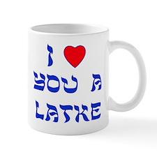 I Love You a Latke Small Mugs