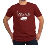 Funny - Bacon is Meat Candy! Men's Fitted T-Shirt