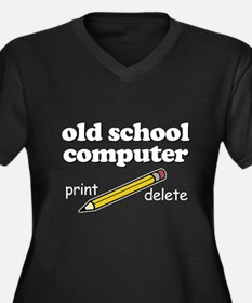 Funny! - Old School Computer Women's Plus Size V-N