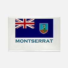 Montserrat Flag Stuff Rectangle Magnet