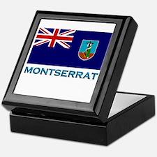 Montserrat Flag Stuff Keepsake Box