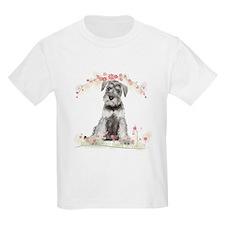 Schnauzer Flowers T-Shirt