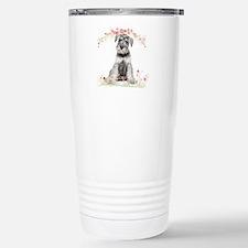 Schnauzer Flowers Stainless Steel Travel Mug
