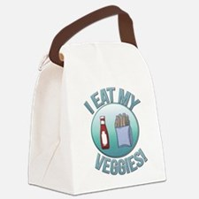 I Eat My Veggies cp.png Canvas Lunch Bag