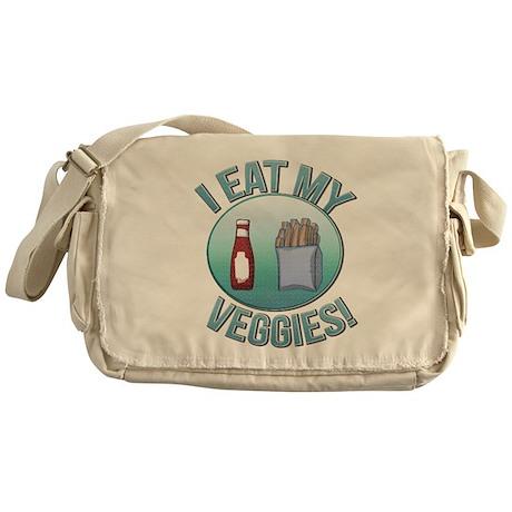 I Eat My Veggies cp.png Messenger Bag