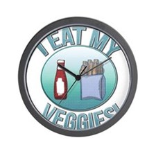 I Eat My Veggies cp.png Wall Clock