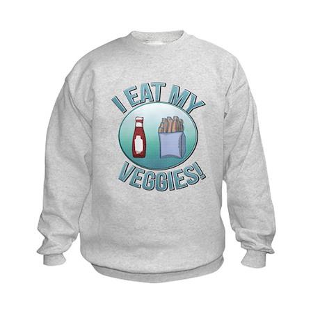 I Eat My Veggies cp.png Kids Sweatshirt
