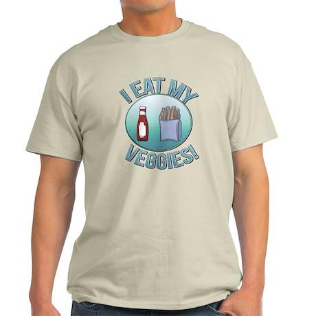 I Eat My Veggies cp.png Light T-Shirt