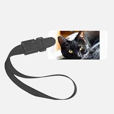 Sleek Black Cat Luggage Tag