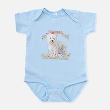Westie Flowers Infant Bodysuit