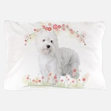 Westie Flowers Pillow Case