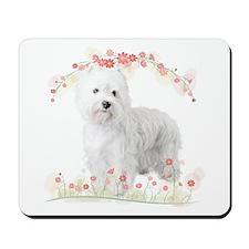 Westie Flowers Mousepad
