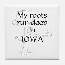 Iowa Roots Tile Coaster