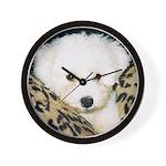 BICHON PUPPY FACE WALL CLOCK