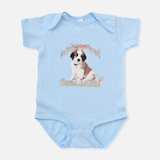 Saint Bernard Flowers Infant Bodysuit