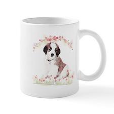 Saint Bernard Flowers Mug