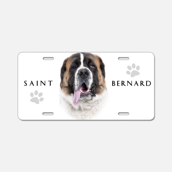 Saint Bernard Aluminum License Plate
