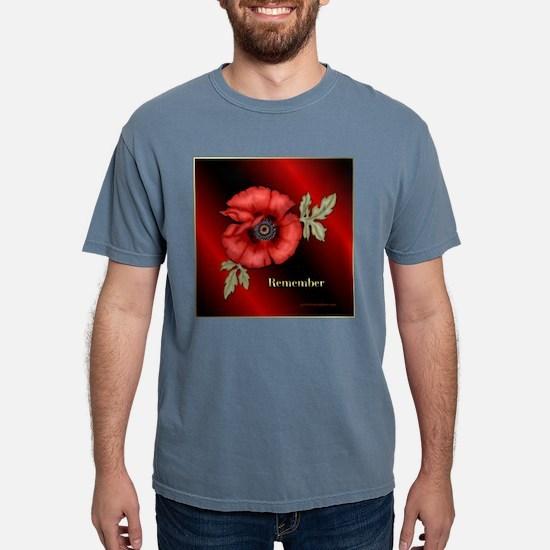 RememberPoppySquare.png Mens Comfort Colors Shirt