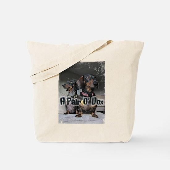 A Pair O' Dox Dachshund Tote Bag