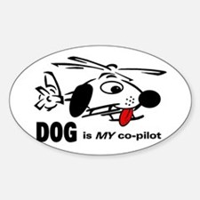 DOG is my co-pilot Rectangle Bumper Stickers