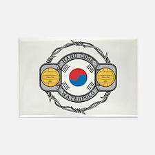 Korean Water Polo Rectangle Magnet