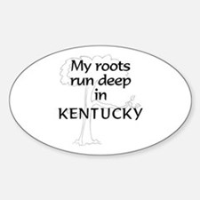Kentucky Roots Oval Bumper Stickers