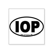 Isle of Palms, SC IOP Euro Style Oval Sticker