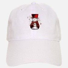 Cute Snowman in Red Velvet Cap