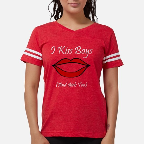 IKissBoysB.png Womens Football Shirt