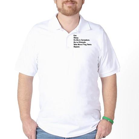 eat sleep student nurse LIGHTS.PNG Golf Shirt
