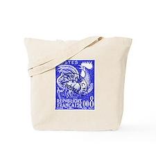 France 1957 Gallic Rooster Postage Stamp Tote Bag