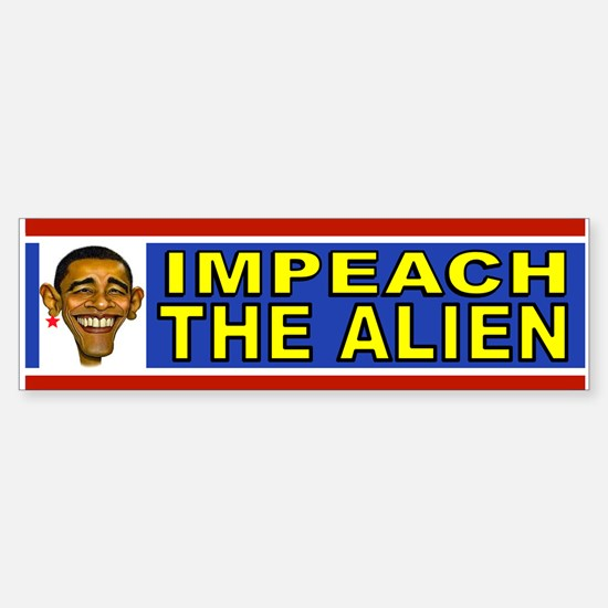 OBAMA ALIEN Sticker (Bumper)